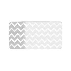 Gray and White Zigzag Stripes. Address Label