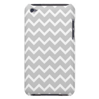 Gray and White Zigzag Stripes. Barely There iPod Cover