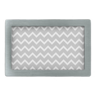 Gray and White Zigzag Stripes. Belt Buckles