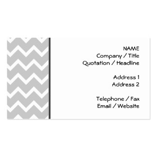 Gray and White Zigzag Stripes. Double-Sided Standard Business Cards (Pack Of 100)