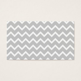 Gray and White Zigzag Stripes. Business Card