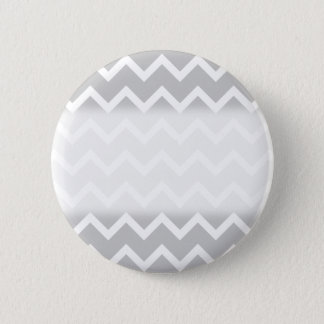 Gray and White Zigzag Stripes. Button