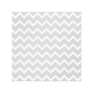 Gray and White Zigzag Stripes. Canvas Print