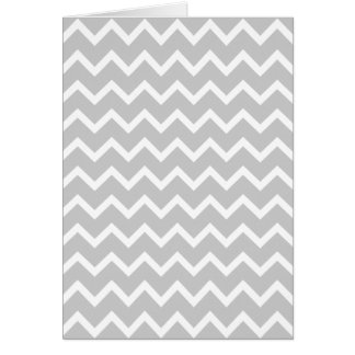 Gray and White Zigzag Stripes. Greeting Card