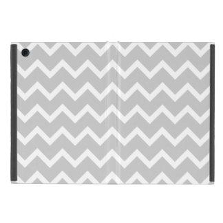 Gray and White Zigzag Stripes. Case For iPad Mini