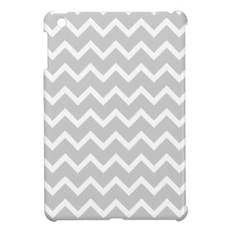 Gray and White Zigzag Stripes. Cover For The iPad Mini