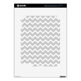 Gray and White Zigzag Stripes. Decals For iPad 3