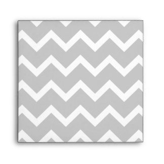 Gray and White Zigzag Stripes. Envelope