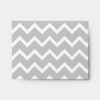 Gray and White Zigzag Stripes. Envelope