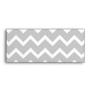 Gray and White Zigzag Stripes. Envelopes