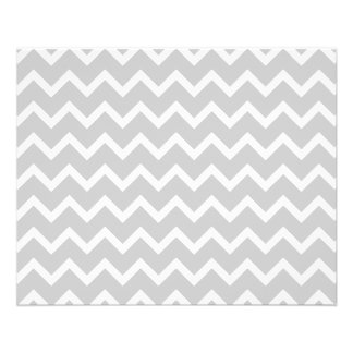 Gray and White Zigzag Stripes. Flyer