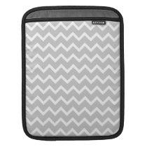 Gray and White Zigzag Stripes. iPad Sleeve