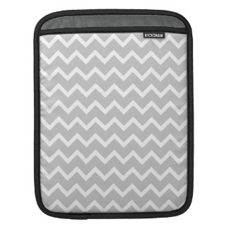 Gray and White Zigzag Stripes. iPad Sleeve