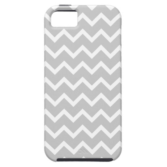 Gray and White Zigzag Stripes. iPhone SE/5/5s Case