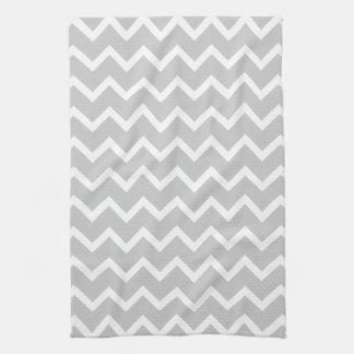 Gray and White Zigzag Stripes. Kitchen Towels