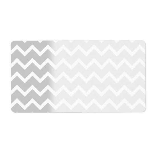 Gray and White Zigzag Stripes. Label