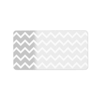 Gray and White Zigzag Stripes. Address Label