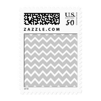 Gray and White Zigzag Stripes. Postage