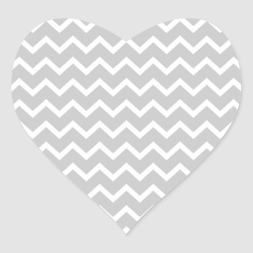Gray and White Zigzag Stripes. Stickers