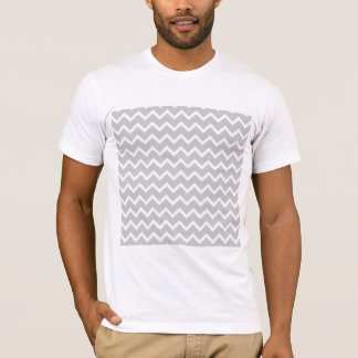 Gray and White Zigzag Stripes. T-Shirt