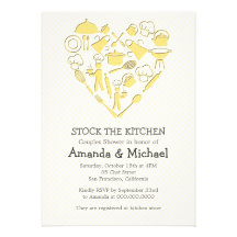 Gray And Yellow Couples Shower | Stock the Kitchen Invitations