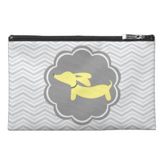 Gray and Yellow Dachshund Wiener Dog Accessory Bag