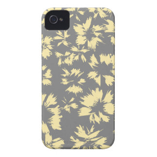 Gray and yellow floral pattern. iPhone 4 cover