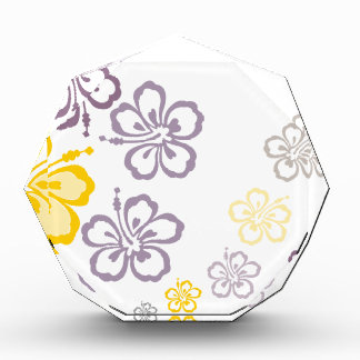 Gray and yellow hibiscus Hawaii Souvenirs Acrylic Award