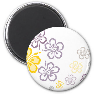 Gray and yellow hibiscus Hawaii Souvenirs Magnet