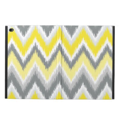 Gray and Yellow Ikat Chevron Powis iPad Air 2 Case