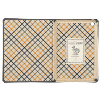 Gray and Yellow Leighton Plaid iPad Air Cases