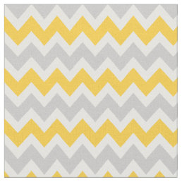 Gray and Yellow Modern Chevron Fabric