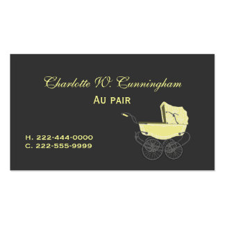 Gray and Yellow Nanny Custom Business Card
