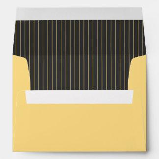 Gray and Yellow Pinstripe Envelope