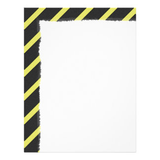 Gray and Yellow Striped Letterhead Template