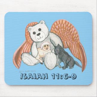 Gray Angel Bear, Isaiah 11:6-9 Mouse Pad
