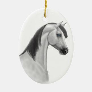 Gray Arabian Horse Customizable Ornament