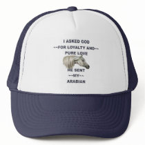 Gray Arabian Horse Trucker Hat