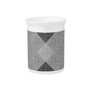 gray argyle beverage pitcher