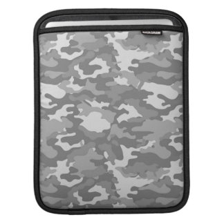 Gray Army Military Camo Camouflage Pattern Texture iPad Sleeve