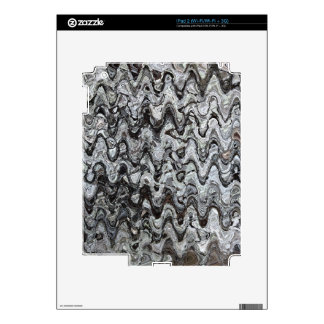 Gray Assymetrical Wave Pattern iPad 2 Decal