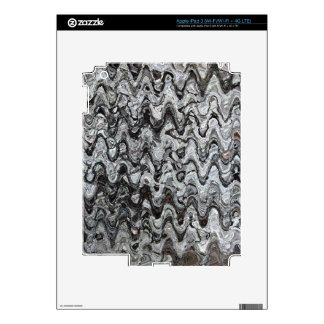Gray Assymetrical Wave Pattern Skin For iPad 3