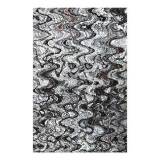 Gray assymetrical wave pattern stationery