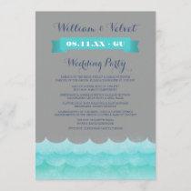 Gray At Sea Nautical Wedding Programs