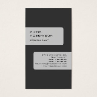 Gray Attractive Charming Business Card