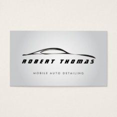GRAY AUTO DETAILING, AUTO REPAIR BUSINESS CARD at Zazzle