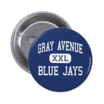 Gray Avenue Blue Jays Middle Yuba City Pinback Button