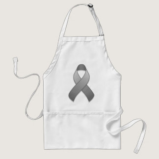Gray Awareness Ribbon Apron