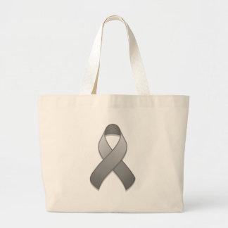 Gray Awareness Ribbon Bag