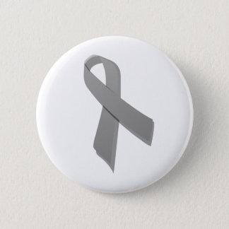 gray awareness ribbon button